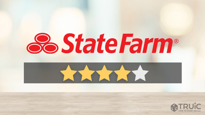 State Farm logo with a star rating of 4/5