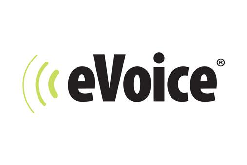 Image of the E Voice logo
