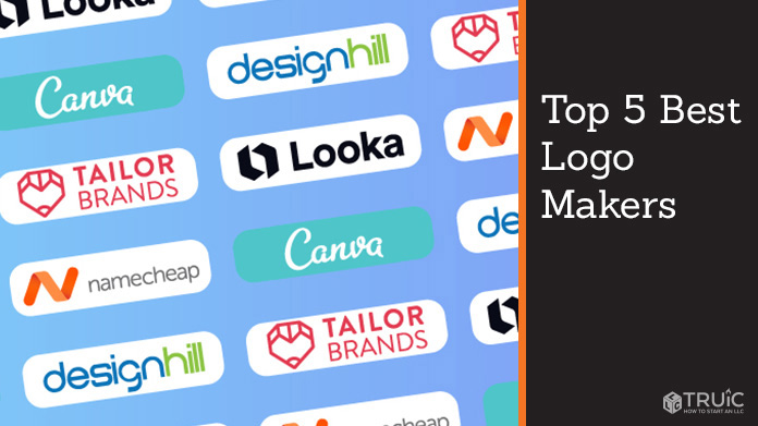 Logo Maker logos for Tailor Brands, Name Cheap, Design Hill, Looka, and Canva.