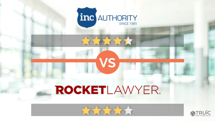 Rocket Lawyer VS Inc Authority Review Image.