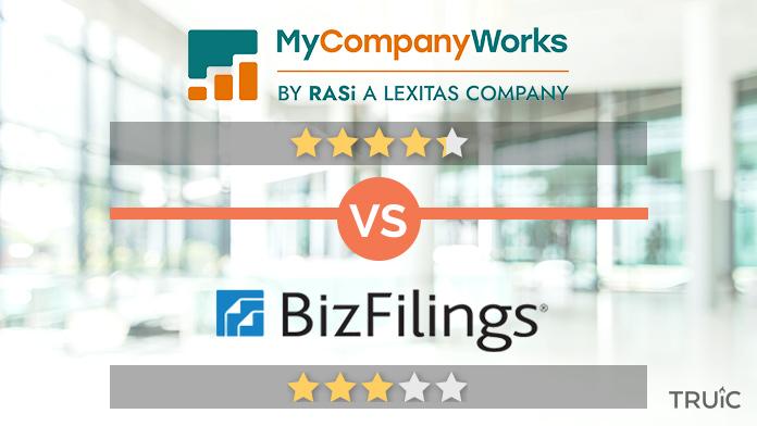 MyCompanyWorks vs. BizFilings Review Image
