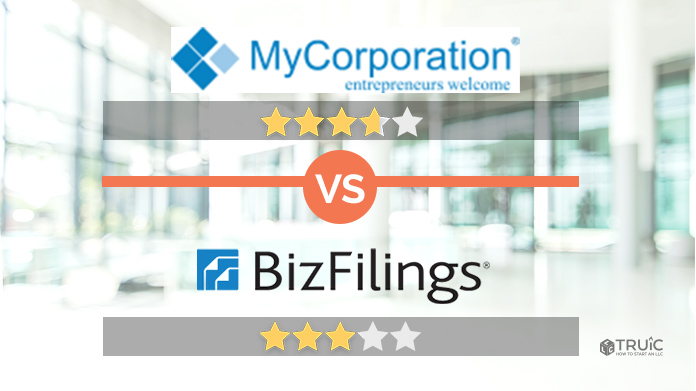 MyCorporation vs BizFilings Review Image
