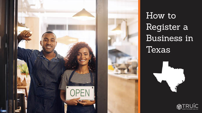 Register a business in Texas.
