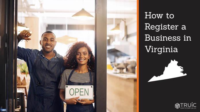 Register a business in Virginia.
