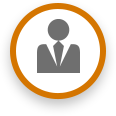 circle with man in suit icon